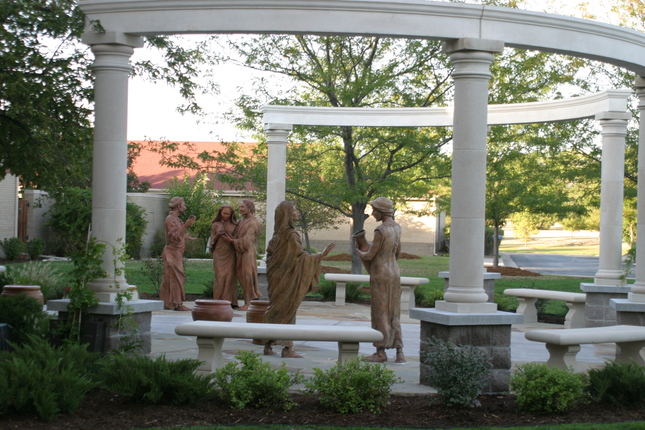 Spiritual Life Center Group sculptures, Wedding at Cana -
