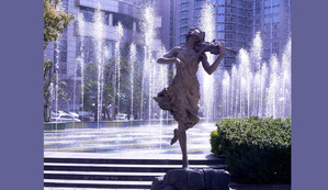 Spirit Of Violin installed downtown Shanghai Park